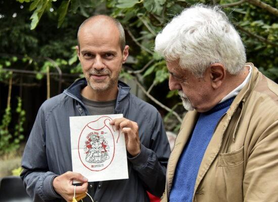Il fumettista Sergio Ponchione autore del Bavagliolone 2021